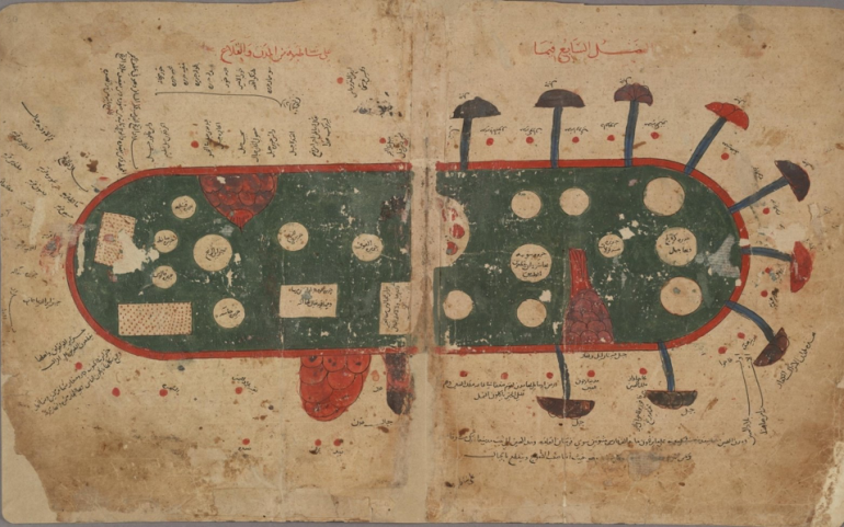 Maps in the Book of Curiosities – 1020 – 1050 AD