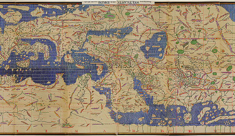 Idrisi's Map for Roger II of Sicily – 1154 AD