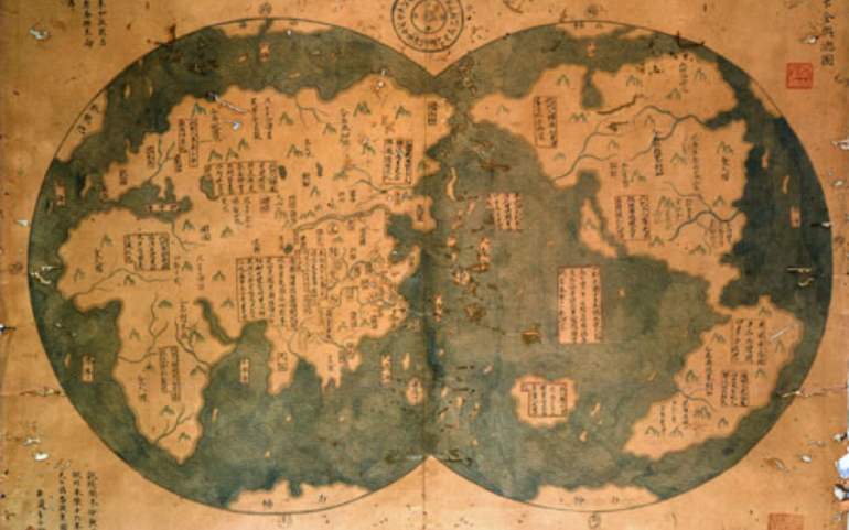 Chinese Map of the World – 1418 AD